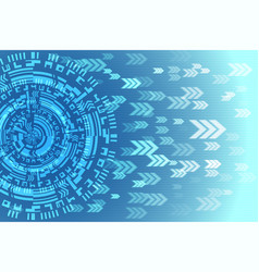 blue future technology arrow background vector image vector image