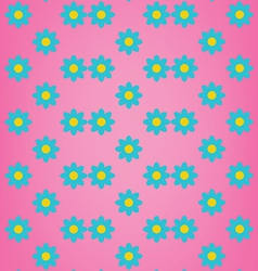 Cute blue flower on pink background pattern vector image vector image