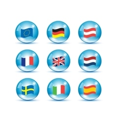 European Union country flags vector image vector image