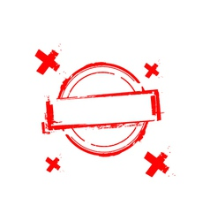 rubber stamp on white vector image