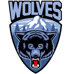 wolves mascot vector image vector image