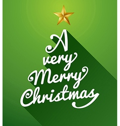 A very Merry Christmas tree composition vector image