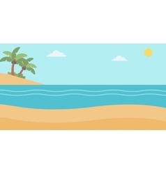 Background of tropical beach and sea vector image