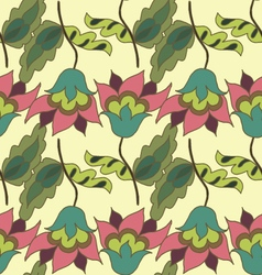 Colorful summer hand drawn floral seamless pattern vector image