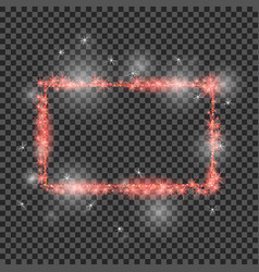 red glitter frame with lights effects good vector image