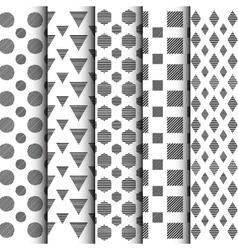 298black and white geometric pattern set vector
