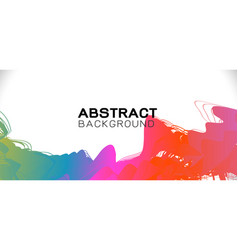 abstract colorful brush stroke on background vector image