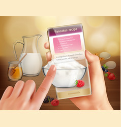 augmented reality cooking background vector image