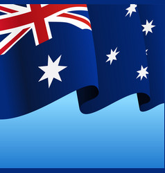 Australian flag wavy abstract background vector