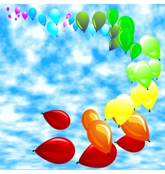 baloon against a blue sky vector image