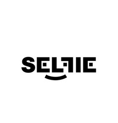 black logo selfi on a white background vector image