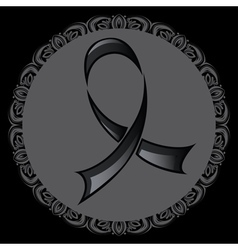 Black Ribbon Background2 vector image