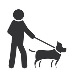 Blind person walking with dog world disability vector