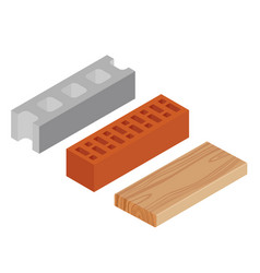 Block brick and plank vector
