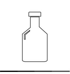bottle icon design vector image