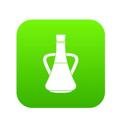 bottle with olive oil icon digital green vector image