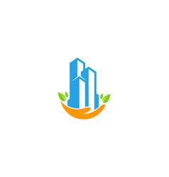 Building care logo icon design vector