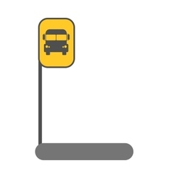 Bus station sign vector