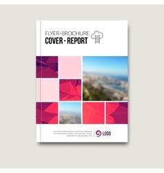Business brochure design template Flyer template vector image