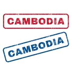 Cambodia rubber stamps vector