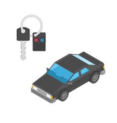 car and key vector image