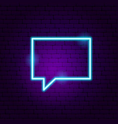 chat neon sign vector image