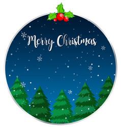 Circle merry christmas card vector