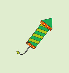 Circus carnival entertainment rocket vector