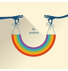 Colorful Positive background vector image