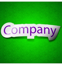 Company icon sign Symbol chic colored sticky label vector