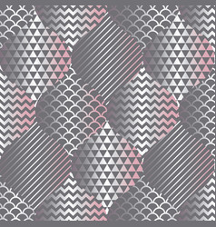 concept gray pattern in silver and tender pink vector image