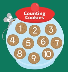 Counting cookies vector