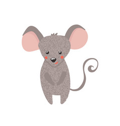 cute hand drawn mouse isolated on white vector image