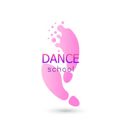 Dance logo for dance school dance studio vector