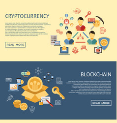 digital line icons set blockchain pack vector image
