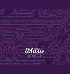 Digital wave equalizer sound noize wave vector