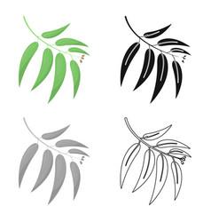 Eucalyptus icon in cartoon style for web vector