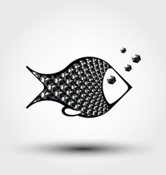 Fish abstract pattern vector
