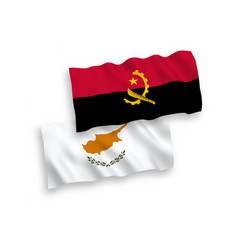 Flags cyprus and angola on a white background vector