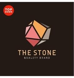 Flat minimalist colored stone design vector image