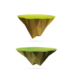 floating islands vector image