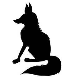 fox side view vector image