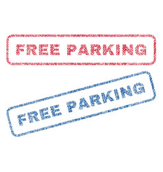 Free parking textile stamps vector