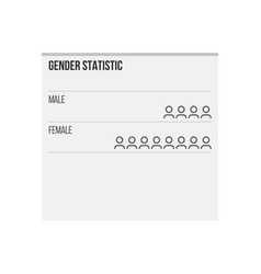 gender statistic infographic elements female male vector image
