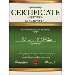 Green Certificate template vector image vector image