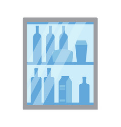 grocery store department with liquids and drinks vector image