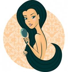 hair hair vector image
