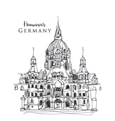 Hand drawn hannover germany vector