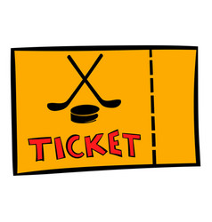 hockey tickets icon icon cartoon vector image