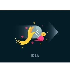 Idea concept icon vector image